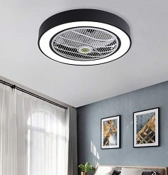 Jinweite Semi Flush Mount Bunk Bed Ceiling Fan with Light