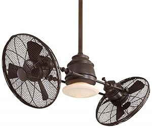 Minka-Aire Vintage Gyro 42-Inch Dual Cage Style Ceiling Fan