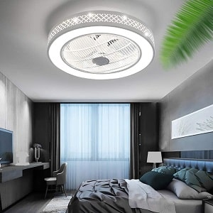 Lxlong Bladeless Ceiling Fan With Light