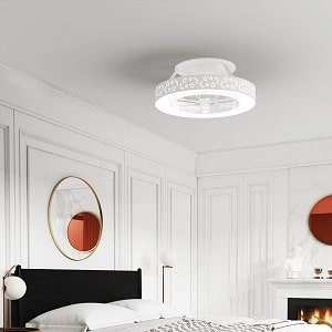 Tangkula Bladeless Ceiling Fan With Light