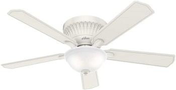 HUNTER Chauncey Indoor Low Profile Ceiling Fan For 7 Foot Ceilings