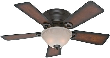 Hunter Conroy Indoor Low Profile Ceiling Fan For 7 Foot Ceilings