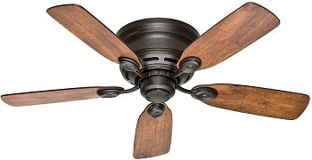 Hunter Indoor Low Profile IV Ceiling Fan For 7 Foot Ceilings