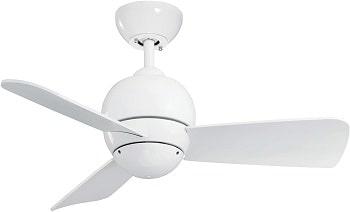 Emerson Tilo 30 Inch Damp Rated Modern Ceiling Fan