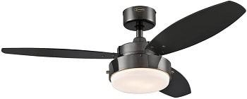Westinghouse Lighting 7876400 Alloy Garage Ceiling Fan With Light