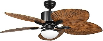 YITAHOME Tropical Reversible Ceiling Fan with LED Light