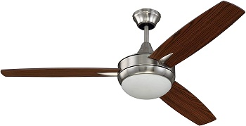 Craftmade TG52BNK3 Targas 52 Inch 3 Blade Ceiling Fan with Light