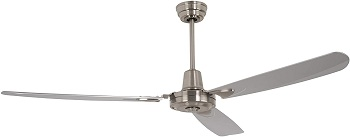 Craftmade VE58BNK3 Stainless Steel 3 Blade Ceiling Fan Without Light