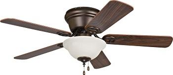 Craftmade WC42ORB5C1 Wyman Flush Mount Ceiling Fan With Bowl Light