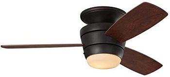Harbor Breeze Mazon Flush Mount Ceiling Fan with Light
