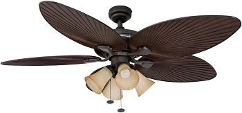 Honeywell Palm Island Unique Tropical Flush Mount Ceiling Fan