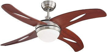 LAMPSMORE 42 Inch Unique Low Profile Ceiling Fan with Lights