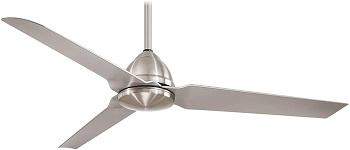 Minka-Aire F753-BNW Brushed Nickel Wet Rated Outdoor Ceiling Fan
