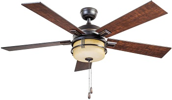 Prominence Home Oil Rubbed Bronze Zinnia Ceiling Fan