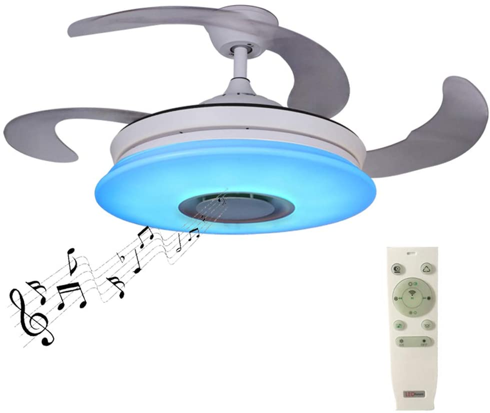 Horevo Ceiling Fan with Lights and Bluetooth Speaker Smart APP