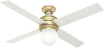 Hunter Hepburn Indoor Ceiling Fan with LED Light and Wall Control