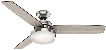 Hunter Sentinel Indoor Ceiling Fan with LED Light and Remote Control