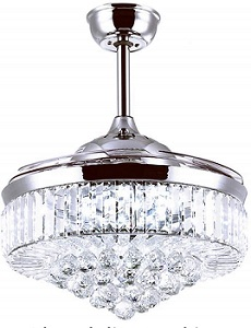 <strong>RuiWing Modern Fandelier Crystal Ceiling Fan with LED Light </strong>