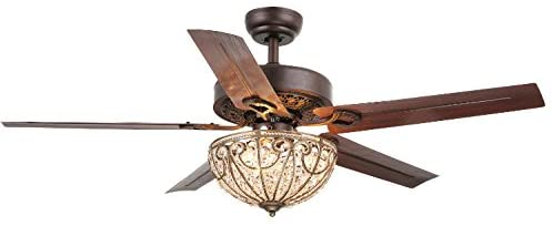 <strong>Whse of Tiffany Catalina Bronze-Finished Crystal Ceiling Fan</strong>